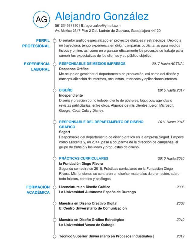 Generador De Cv Ideales Y Mucho Mas En 2020 Ejemplos De Cv Curriculum Profesional Campanas Publicitarias