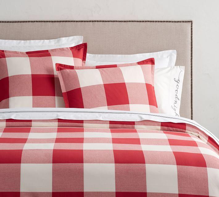 Buffalo Check Duvet Cover Sham Cherry Ivory Red Duvet Cover Simple Bedroom Design Sham Bedding