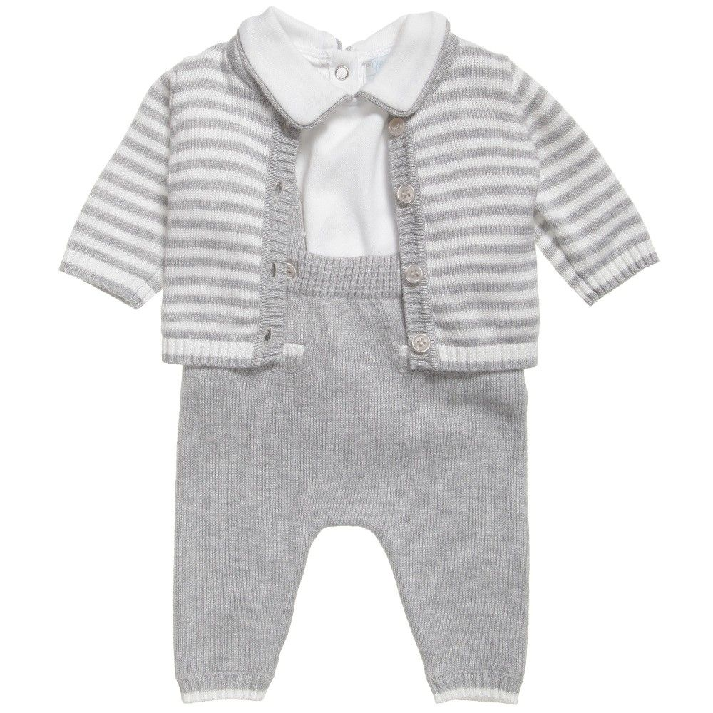 Mayoral Grey Knitted Baby Trouser Outfit at Childrensalon.com