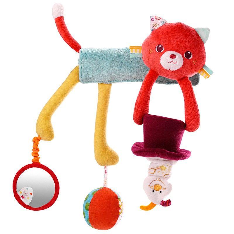 Colgador gata Colette con actividades - Lilliputiens