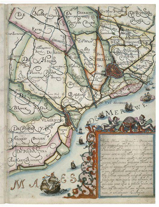 Kaart Schiedam, 1610