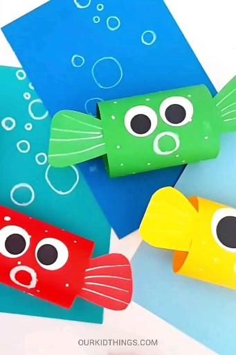 Paper Loop Pufferfish Craft