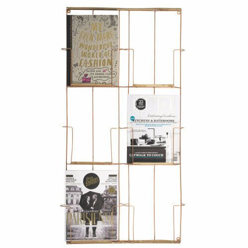 Kupfer Wohnzimmer Deko: Wand-Magazinhalter Kupfer Von Madam Stoltz