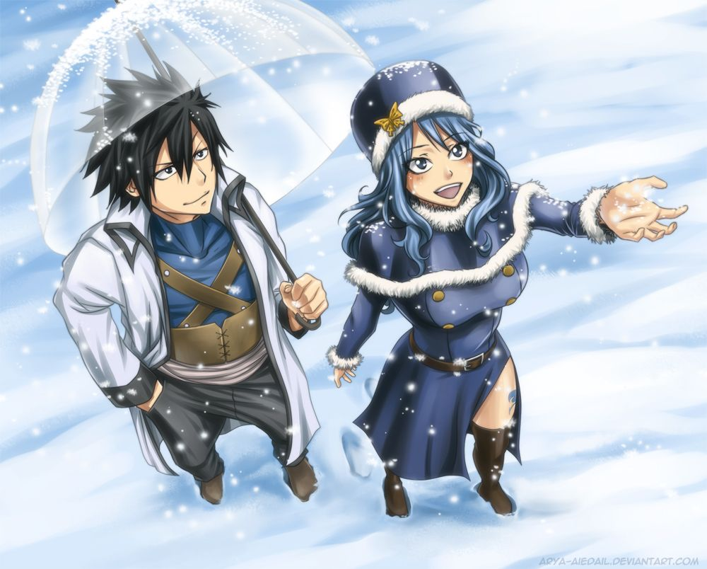 gray and juvia from fairy tail