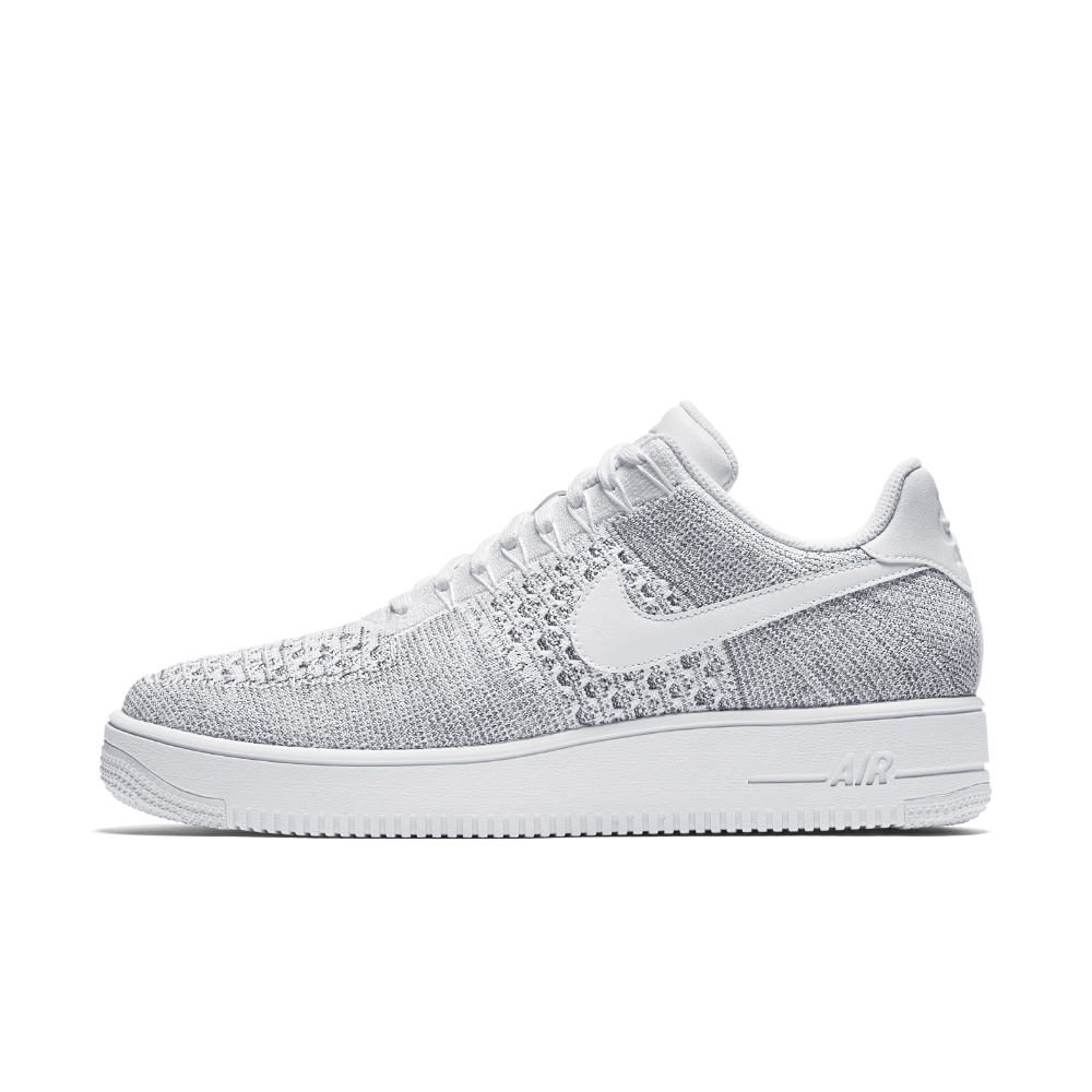 the latest 3378d 854f1 Nike Air Force 1 Flyknit Low Men s Shoe Size 10.5 (Grey) - Clearance Sale