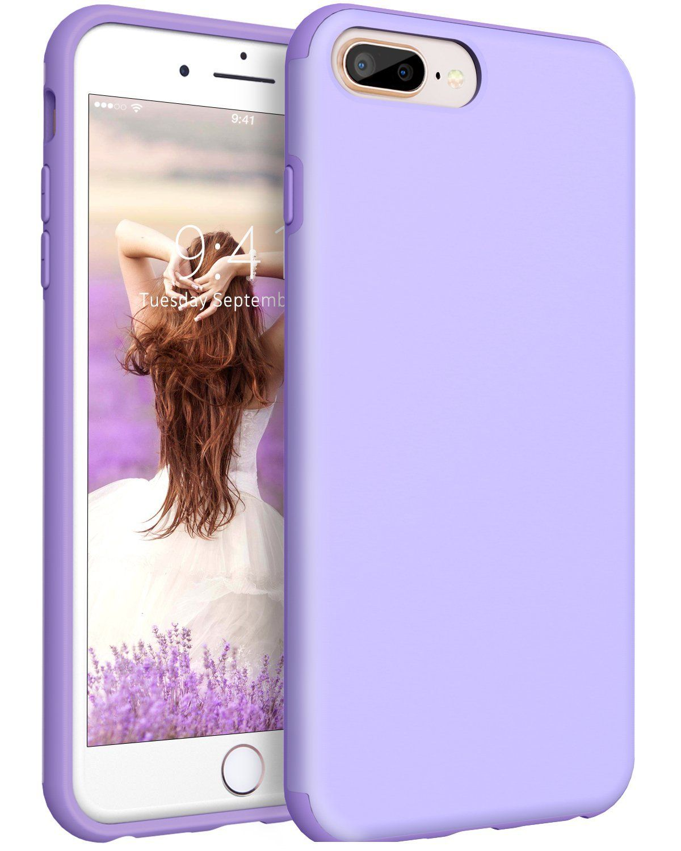 Iphone 8 Plus Bentoben Dual Layer Rugged Protective Phone Case For Iphone 7 Plus 5 5 Light Purple Protective Cell Phone Cases Iphone Phone Cases Protective