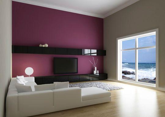 Des murs chic et design avec un enduit violine la chaux la peinture la - Exemple peinture salon ...