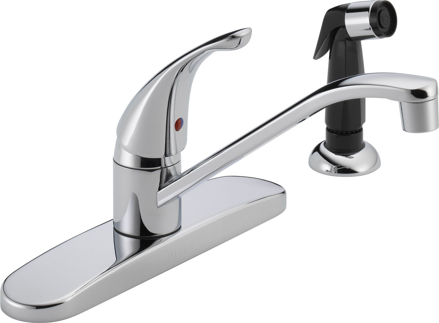 Single handle centerset kitchen faucet with side spray kitchen