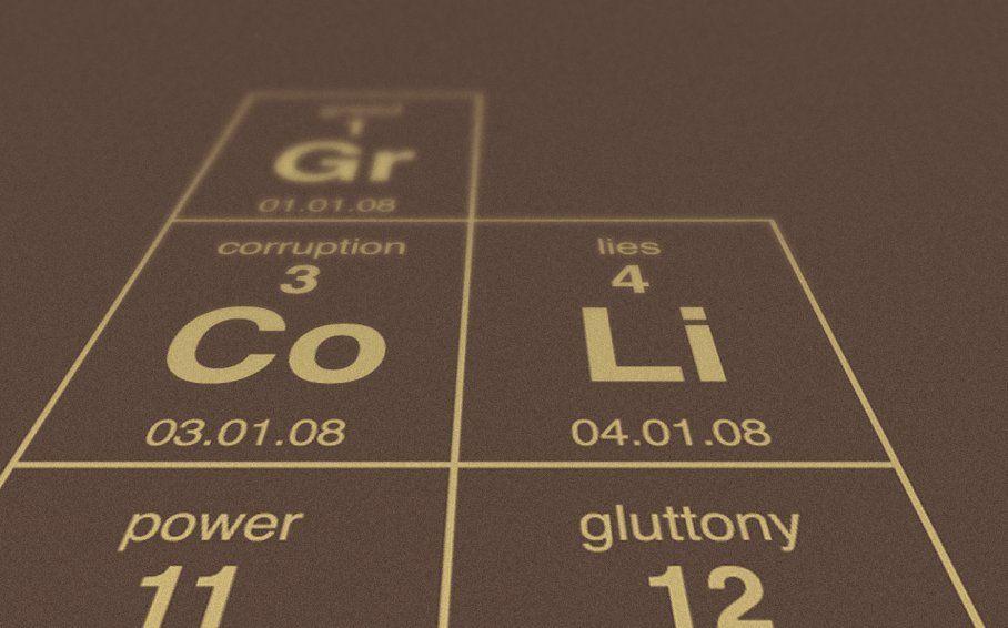 La tabla periódica de los peores vicios de la humanidad Furni - new ver una tabla periodica completa