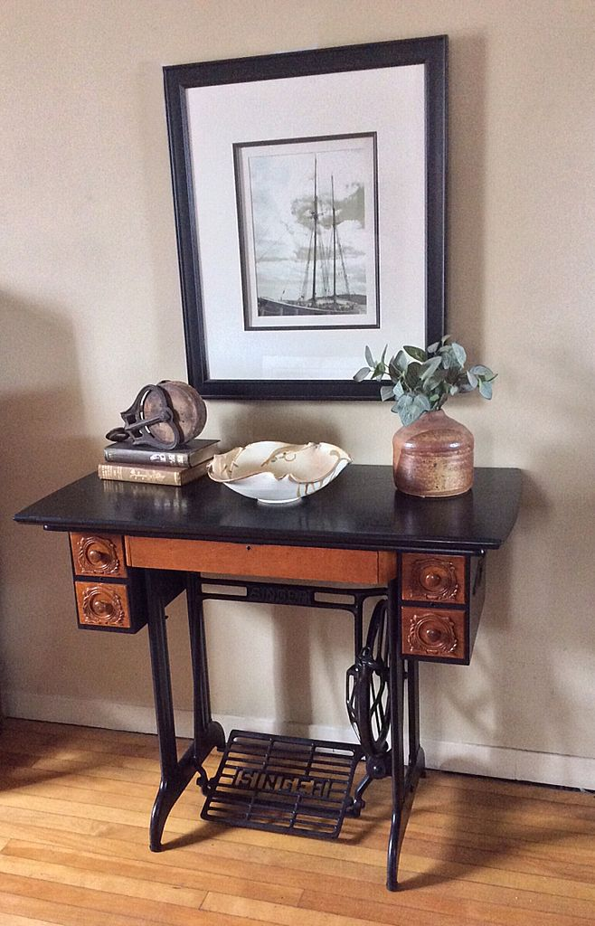 Suggestions For Antique Sewing Machine Makeover Sewing Table