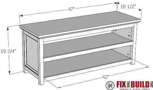 Diy Entryway Shoe Storage Bench Fixthisbuildthat Shoe Storage Bench Diy Entryway Shoe Storage Bench With Shoe Storage