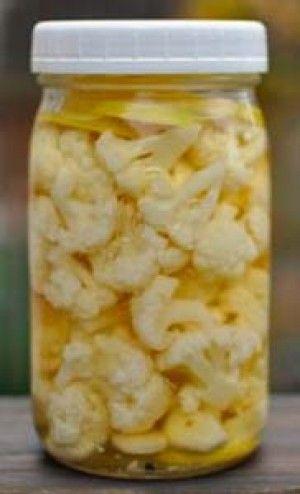 Chou-fleur mariné   Recettes de cuisine, Recette