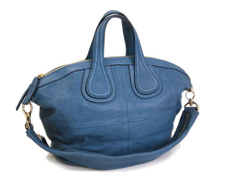 71d421cba7 Givenchy Nightingale Small 2 way Bag Lamb Skin Blue (BF057095 ...