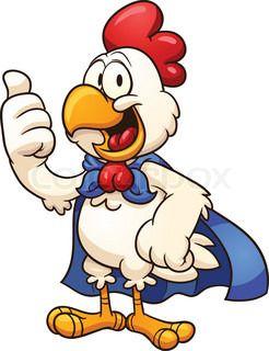 Super Chicken Chicken Illustration Cartoon Chicken Chicken Vector