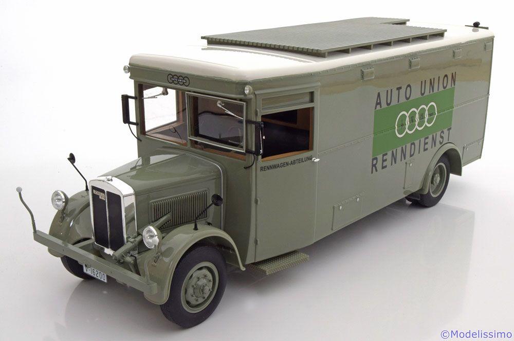 NAG Bussing, Renntransporter Auto Union Renndienst, graugrun. Premium ClassiXXs, 1/18, No.30050, Limited Edition 500 pcs. 250 EUR