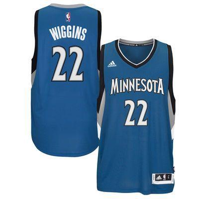 brand new 4a436 c88cf Men's Andrew Wiggins Minnesota Timberwolves adidas Swingman ...