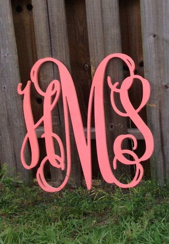 Painted Wooden Monogram Wall