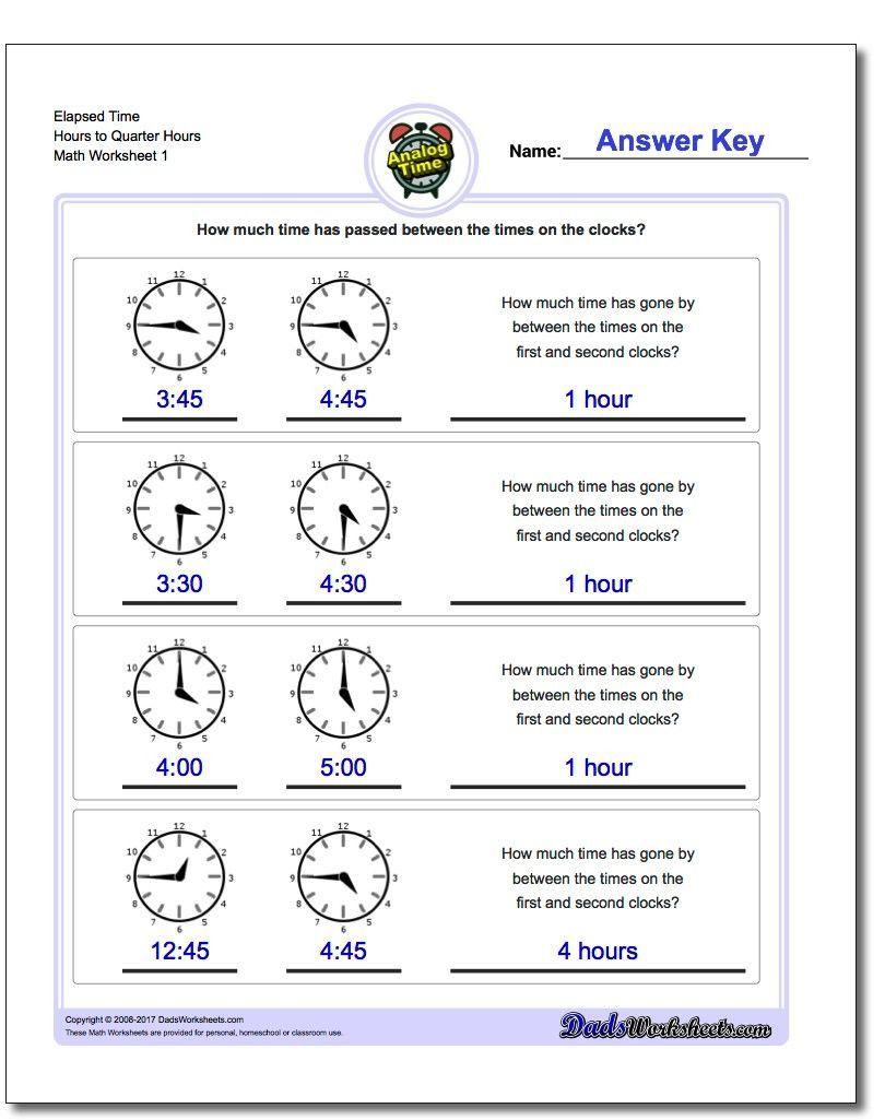 Elapsed Time 3rd Grade Worksheets Printable Pdf Analog Elapsed Time Worksheets In 2020 Elapsed Time Worksheets Telling Time Worksheets Time Worksheets