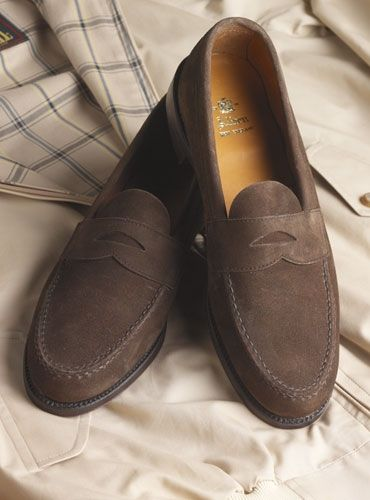 9ee881b6662 The Alden Penny Loafer in Dark Brown Suede