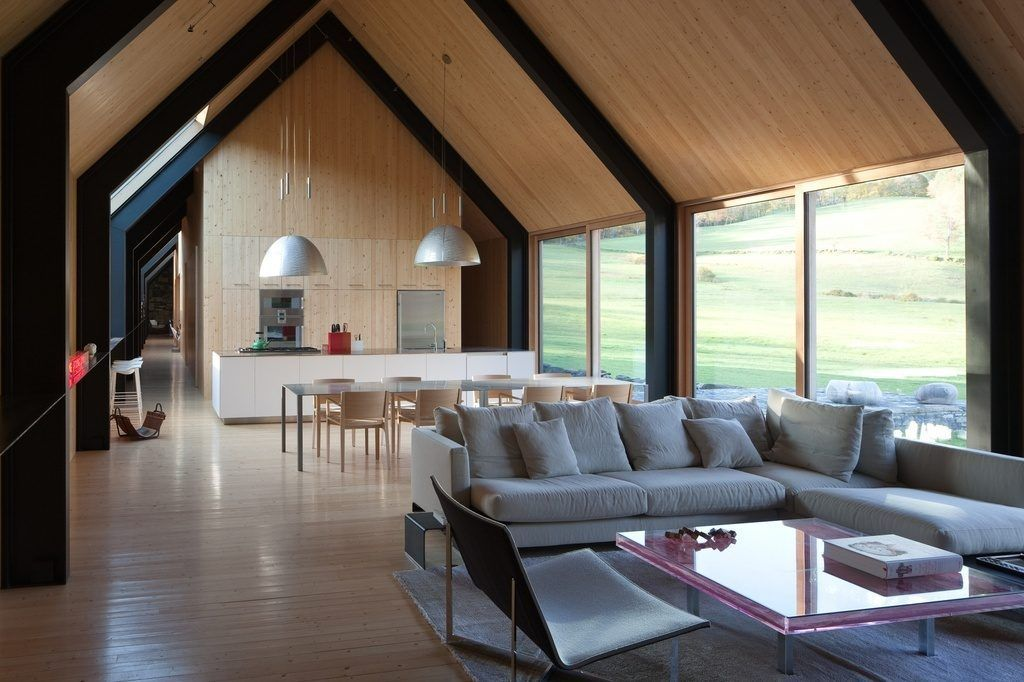 Live the Simple Life at This Modern Gable House in Vermont Asking ...