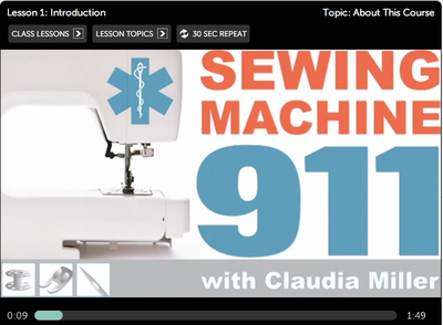 Sewing Machine 911 - Free online class about sewing machines. Sounds like a good material for those who need a little help :)