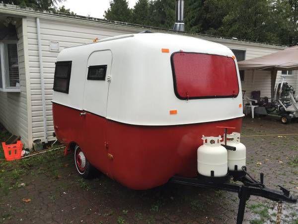 Half tomato red boler. | Vintage campers trailers, Vintage ...