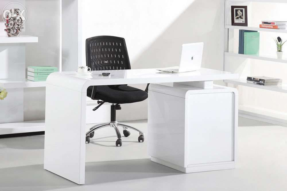Single Executive Operating Executive Table In White Dico Paint White Desk Office High Gloss White Office Desk Home Office Desks
