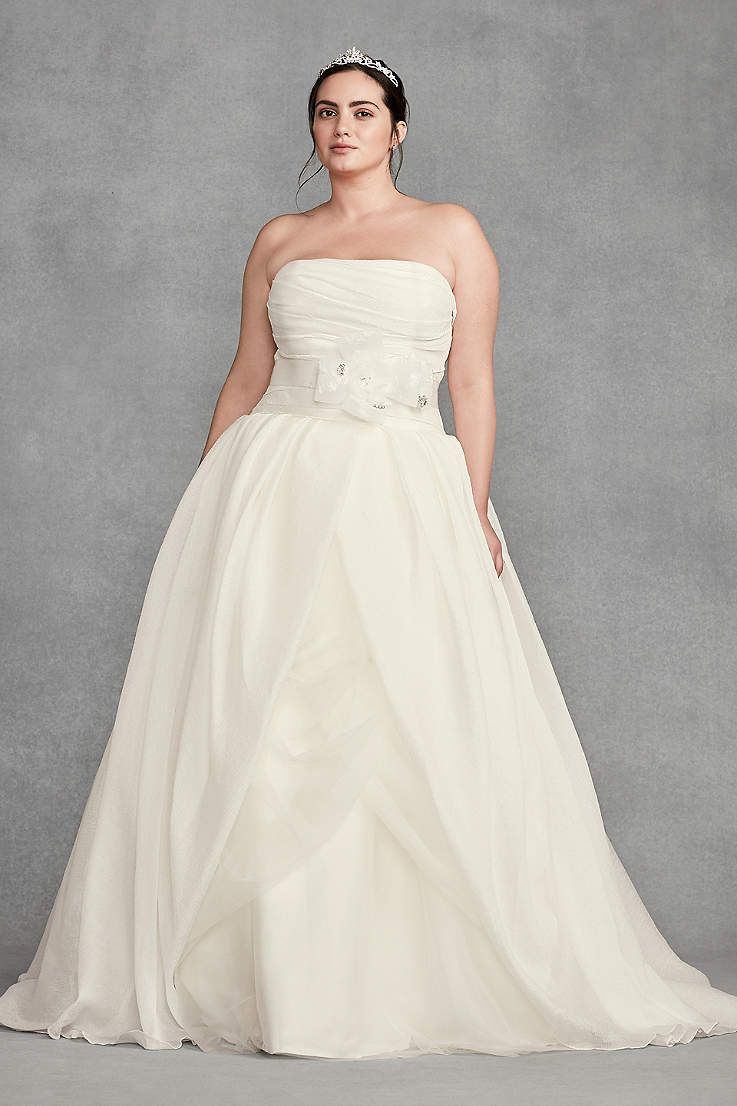 View strapless long wedding dress at davidus bridal wedding in