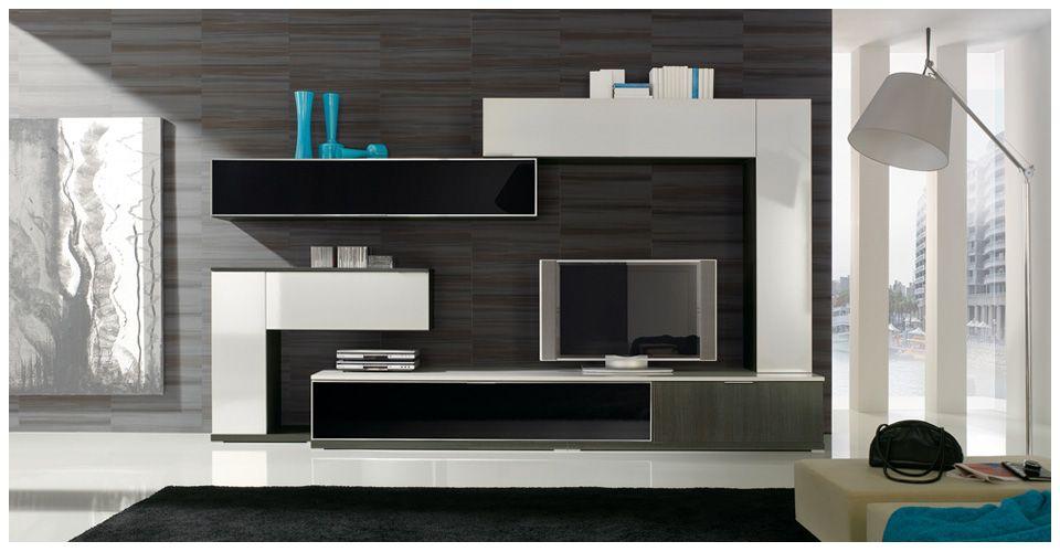 Centros de entretenimiento modernos para espacios peque os for Muebles de tv modernos