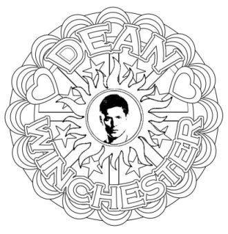 Supernatural Dean Winchester Mandalas Grown Up Colouring