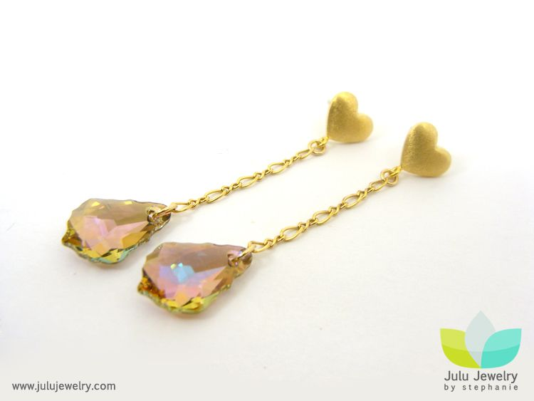 Julu Jewelry by Stephanie: Vintage Luxe Heart Earrings & Jane Eyre