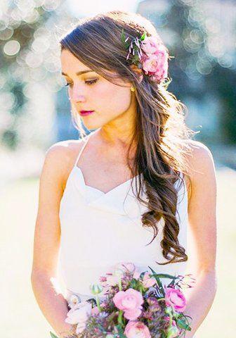 Peinados De Novia Cabello Suelto Con Flores Peinados Bride