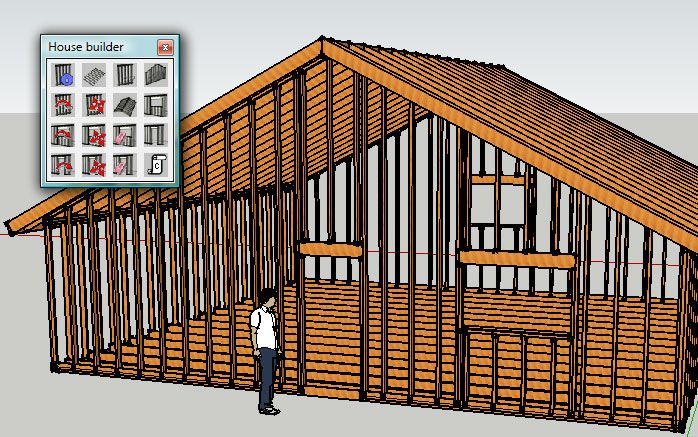 SketchUp House Builder | wood-design-sketchup in 2019 | Home