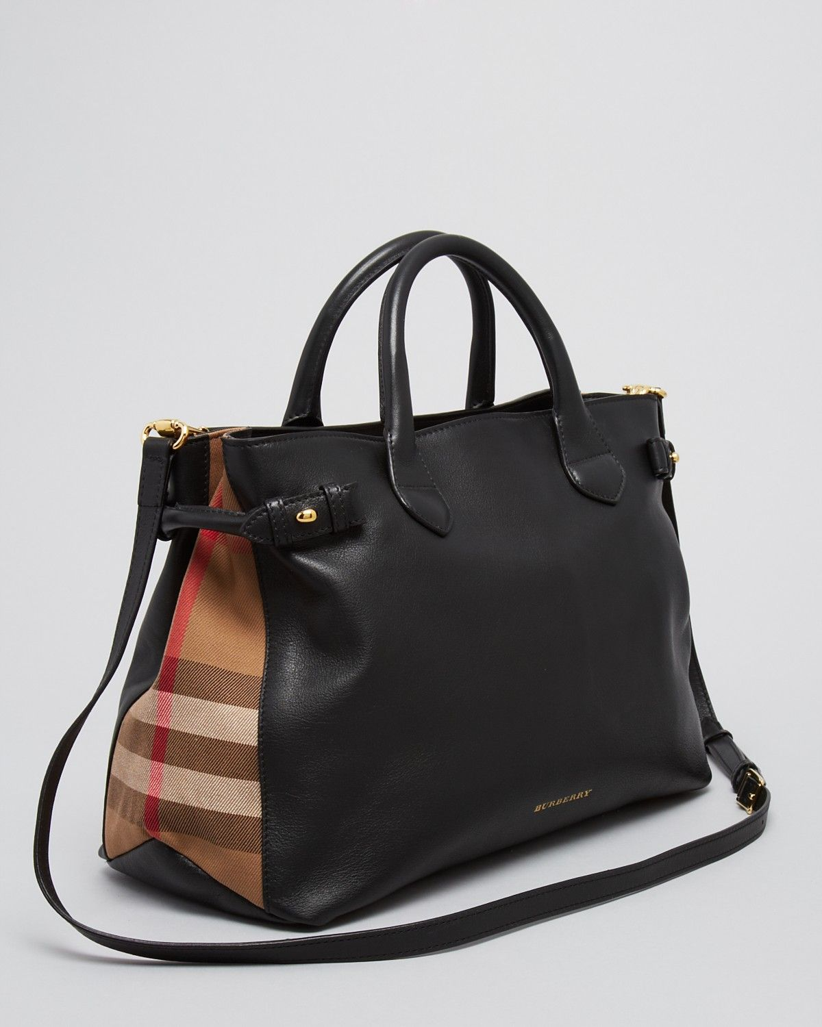 51f28ea9a3 Burberry Tote - House Check Sartorial Medium Banner | Bags ...