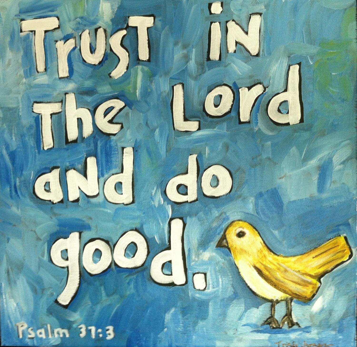 Trusting In The Lord Quotes: Trust In The Lord Scripture Art Painting Of Bible Verse