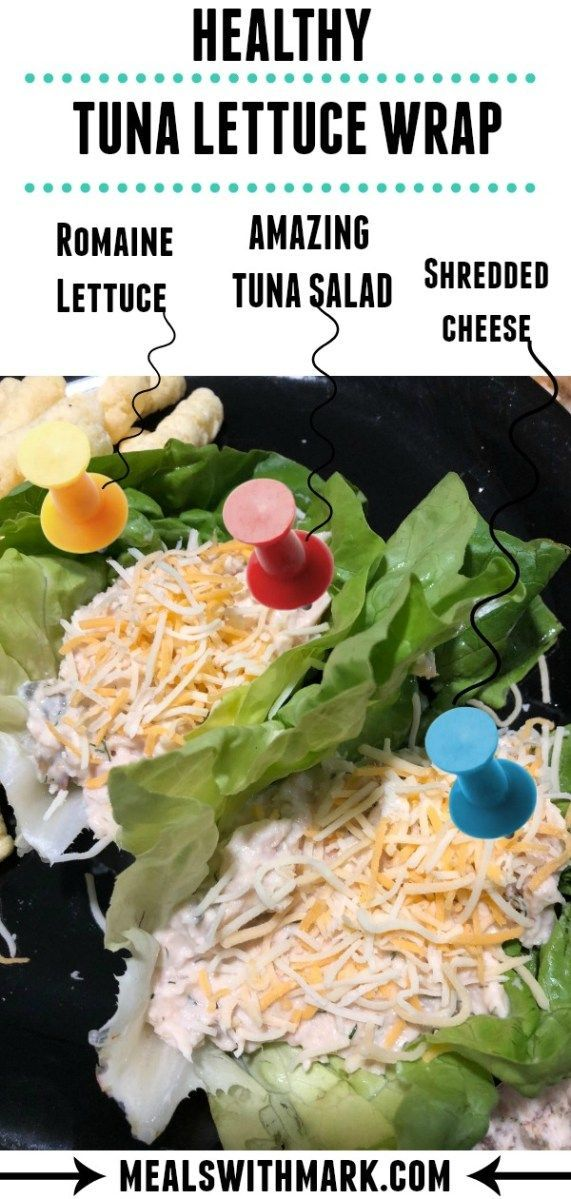 Healthy Tuna Lettuce Wrap images