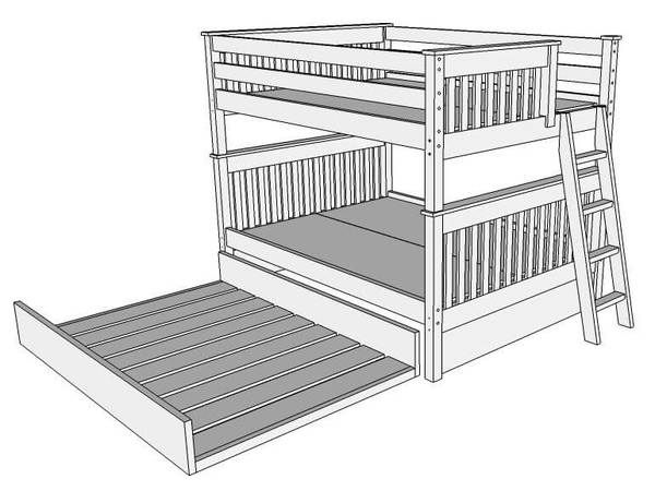 Best Columbus Queen Bunk Beds Bunk Beds Bunk Bed With Trundle 400 x 300