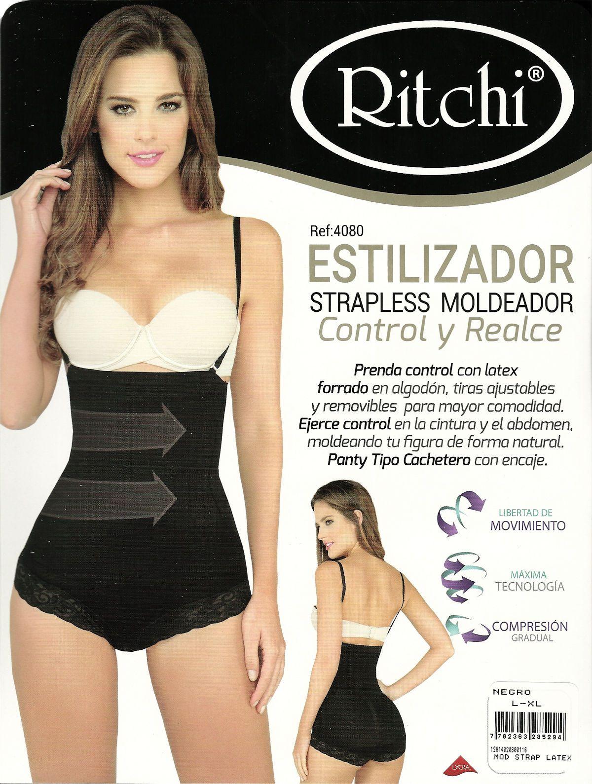 d7f0a741c1 Panty Faja Reductora Cachetera Strapless Moldea Reduce Cintura Estómago  Ritchi…