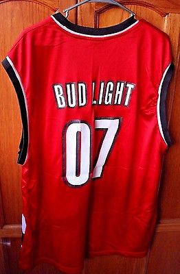 Adidas Trail Blazers 07 Bud Light Fans Jersey NBA Collectibles Memorabilia