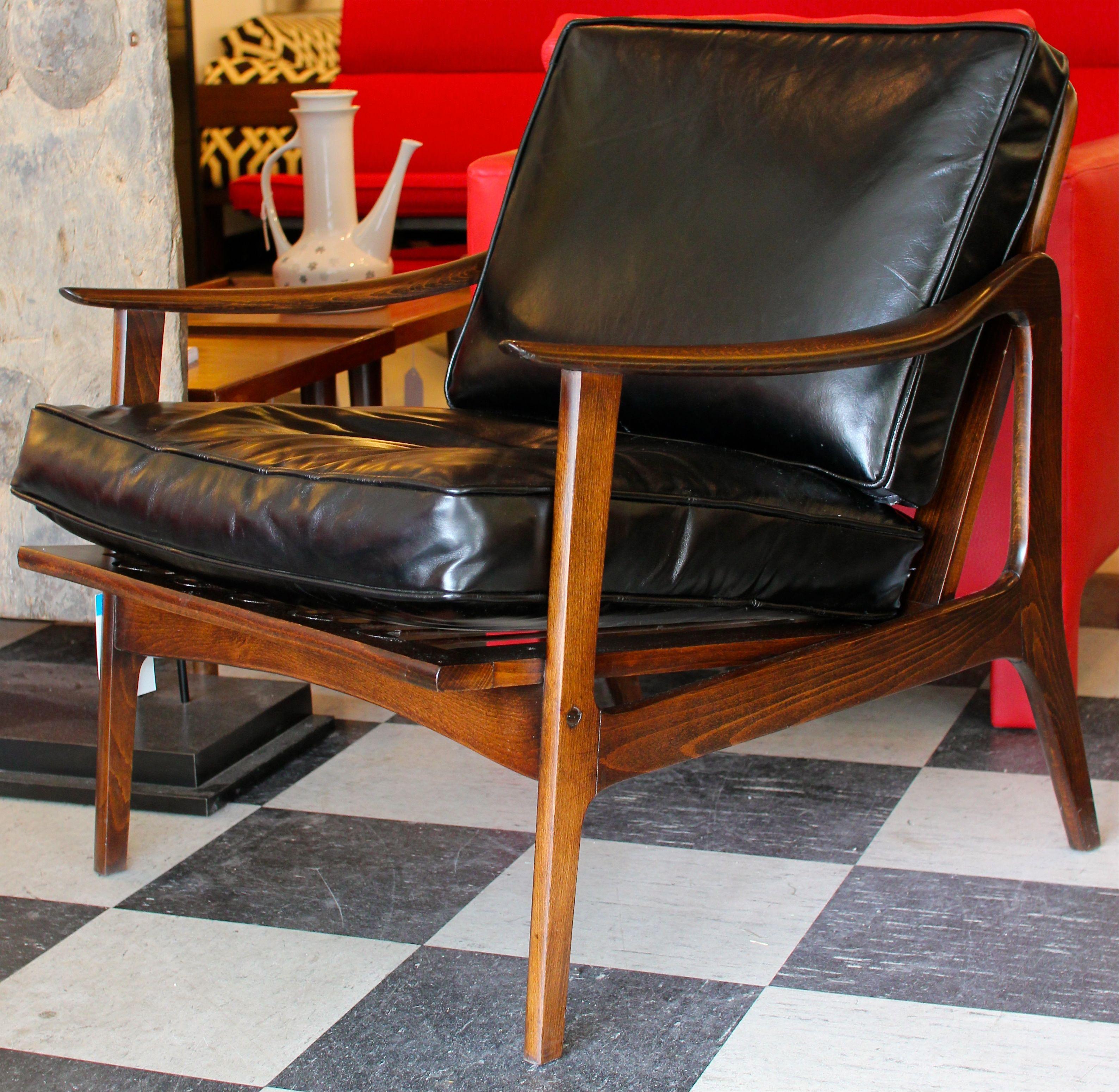 Incredible Leather Danish Lounge Chair Mid Century Leather Chair Inzonedesignstudio Interior Chair Design Inzonedesignstudiocom