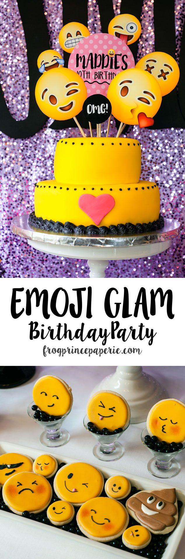 88242758a8f3e3698b387b9880d10893 glitter bow emoji birthday party invitation emoji birthday party,Tween Birthday Party Invitations