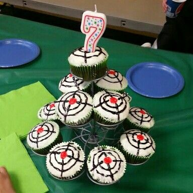 Laser tag cupcakes for laser tag birthday party I did it