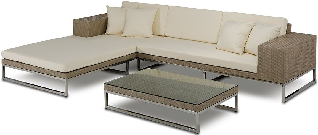 The Tahiti Low Profile Outdoor Modern Sectional Patio Sectional