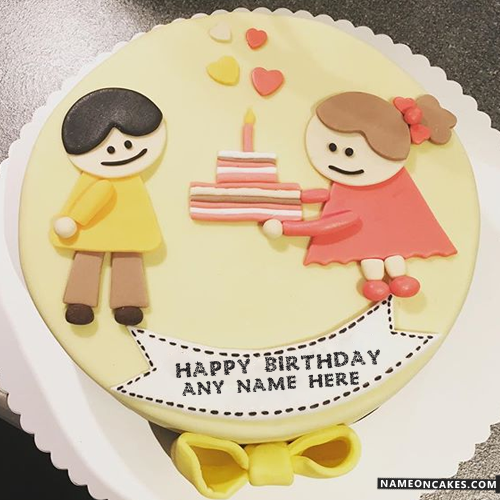 Cute Cartoon Cakes For Kids Happy Birthday With Name