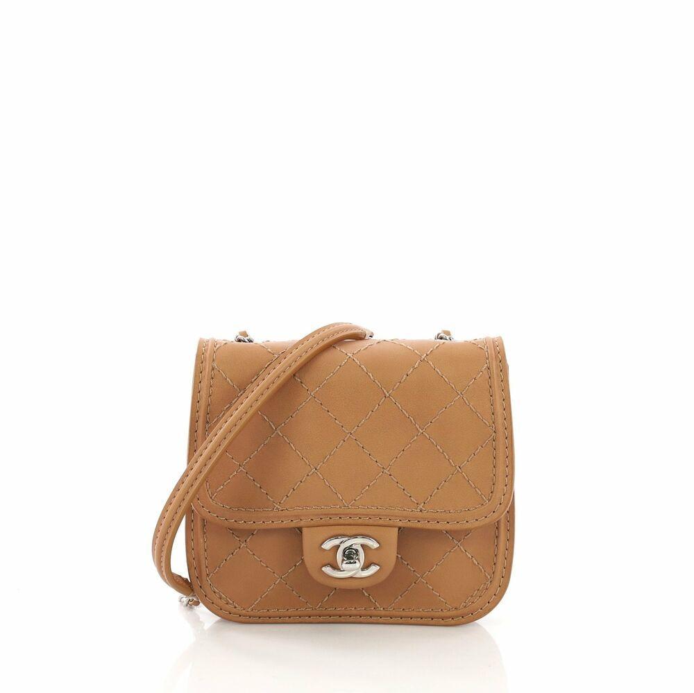 3216b6e2a8bf8e Chanel Citizen Flap Bag Quilted Calfskin Mini | Fashion in 2019 ...