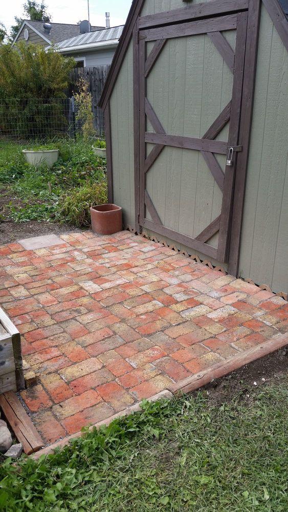 How To Add Brick Pavers To The Garden Area Diy Diy Brick Patio