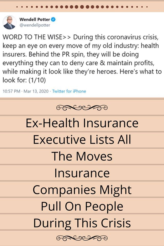Ex Health Insurance Executive Lists All The Moves Insurance