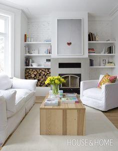 Crisp Contemporary Living Room | House & Home