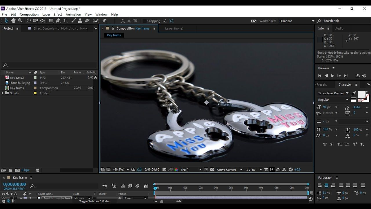 After Effects Cc 2017 2018 2019 Key Frams Class 06 Microsoft