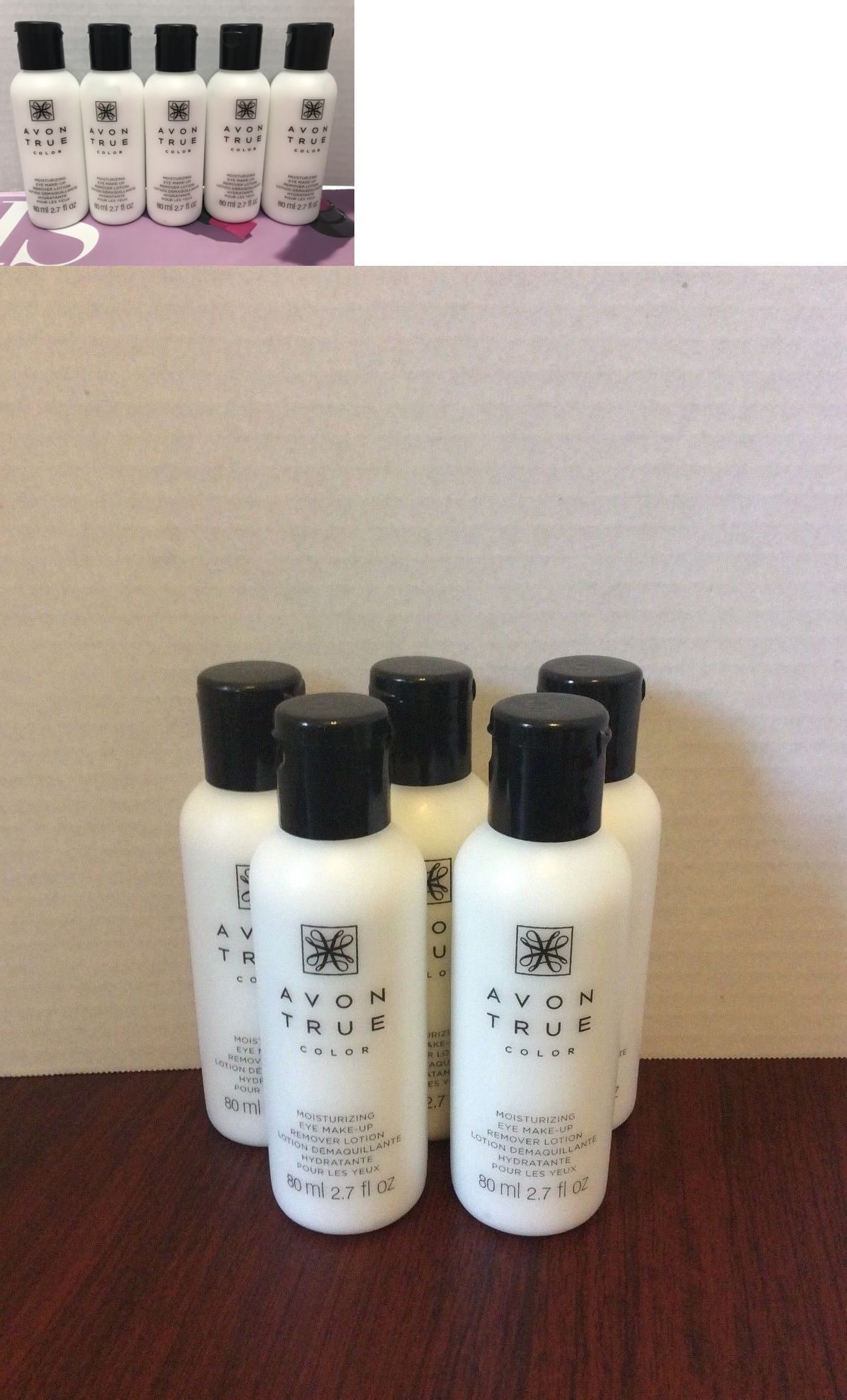 Lot Of 5 Avon True Color Moisturizing Eye Makeup Remover Lotion
